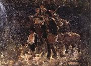 Nicolae Grigorescu Gypsies with Bear oil painting reproduction