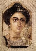 unknow artist Funerary Portrait of Womane from El Fayum oil painting reproduction
