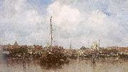 Maris, Jacob Dutch Town on the Edge of the Sea oil painting reproduction