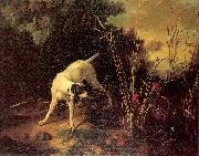 OUDRY, Jean-Baptiste A Dog on a Stand oil painting