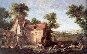 OUDRY, Jean-Baptiste The Farm oil painting