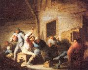 Ostade, Adriaen van Peasants Making Merry in a Tavern oil painting