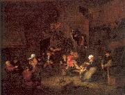 Ostade, Adriaen van Villagers Merrymaking at an Inn oil painting
