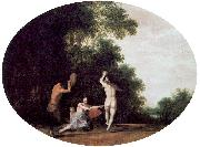 POELENBURGH, Cornelis van Nymphs and Satyr oil painting reproduction