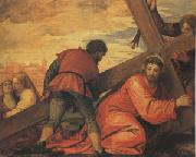 Veronese and Studio rJesus Falls under the Weight of the Cross (mk05) oil painting
