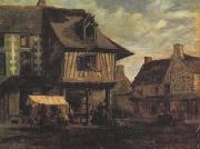Theodore Rousseau Marketplace in Normandy (san04) oil painting