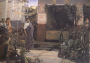 Alma-Tadema, Sir Lawrence The Flower Market (mk23) oil painting