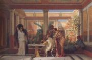 Alma-Tadema, Sir Lawrence Gustave Boulanger,The Rehearsal in the House of the Tragic Poet (mk23) oil painting reproduction