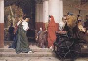 Alma-Tadema, Sir Lawrence Entrance to a Roman Theatre (mk23) oil painting