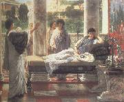 Alma-Tadema, Sir Lawrence Catullus Reading his  Poems at Lesbia's House (mk23) oil painting
