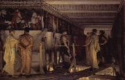 Alma-Tadema, Sir Lawrence Phidias Showing the Frieze of the Parthenon to his Friends (mk23) oil painting