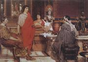 Alma-Tadema, Sir Lawrence Catullus at Lesbia's (mk23) oil painting