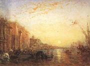 Felix Ziem Venice with Doges'Palace at Sunrise (mk22) oil painting