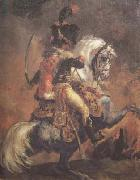 Theodore Gericault Chasseur of the Imperial Guard,Charging (mk10 oil painting