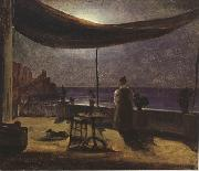 Thomas Fearnley Moonlight in Amalfi (mk22) oil painting