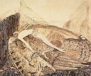 Vasily Surikov The Fallen Demon,on the death of Mikhail Vrubel (mk19) oil painting