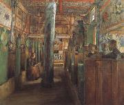Harriet Backer Uvdal Stave Church (nn02) oil painting reproduction