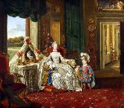 Johann Zoffany Queen Charlotte at her Dressing Table (mk25) oil painting