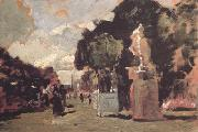 Tina Blau In the Tuileries Gardens (sunny Day) (nn02) oil painting