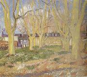 Vincent Van Gogh Avenue of Plane Trees near Arles Station (nn04) oil painting reproduction