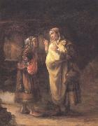 Willem Drost Ruth declares her Loyalty to Naomi (mk33) oil painting reproduction