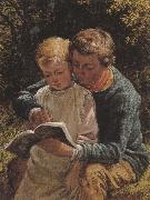 William Bromley The Lesson (mk37) oil painting