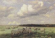 wright barker Upland Pastures (mk37) oil painting