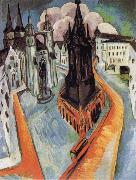 Ernst Ludwig Kirchner The Red Tower in Halle oil painting