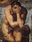 Michelangelo Buonarroti Damned soul descending into Hell oil painting
