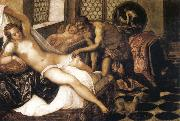 Tintoretto Vulcan Suuprises Venus and Mars oil painting reproduction