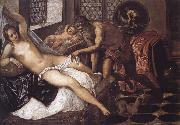 Tintoretto Vulcano sorprende a Venus y Marte oil painting reproduction