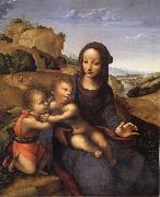 YANEZ DE LA ALMEDINA, Fernando Madonna and Child with Infant St.Fohn oil painting